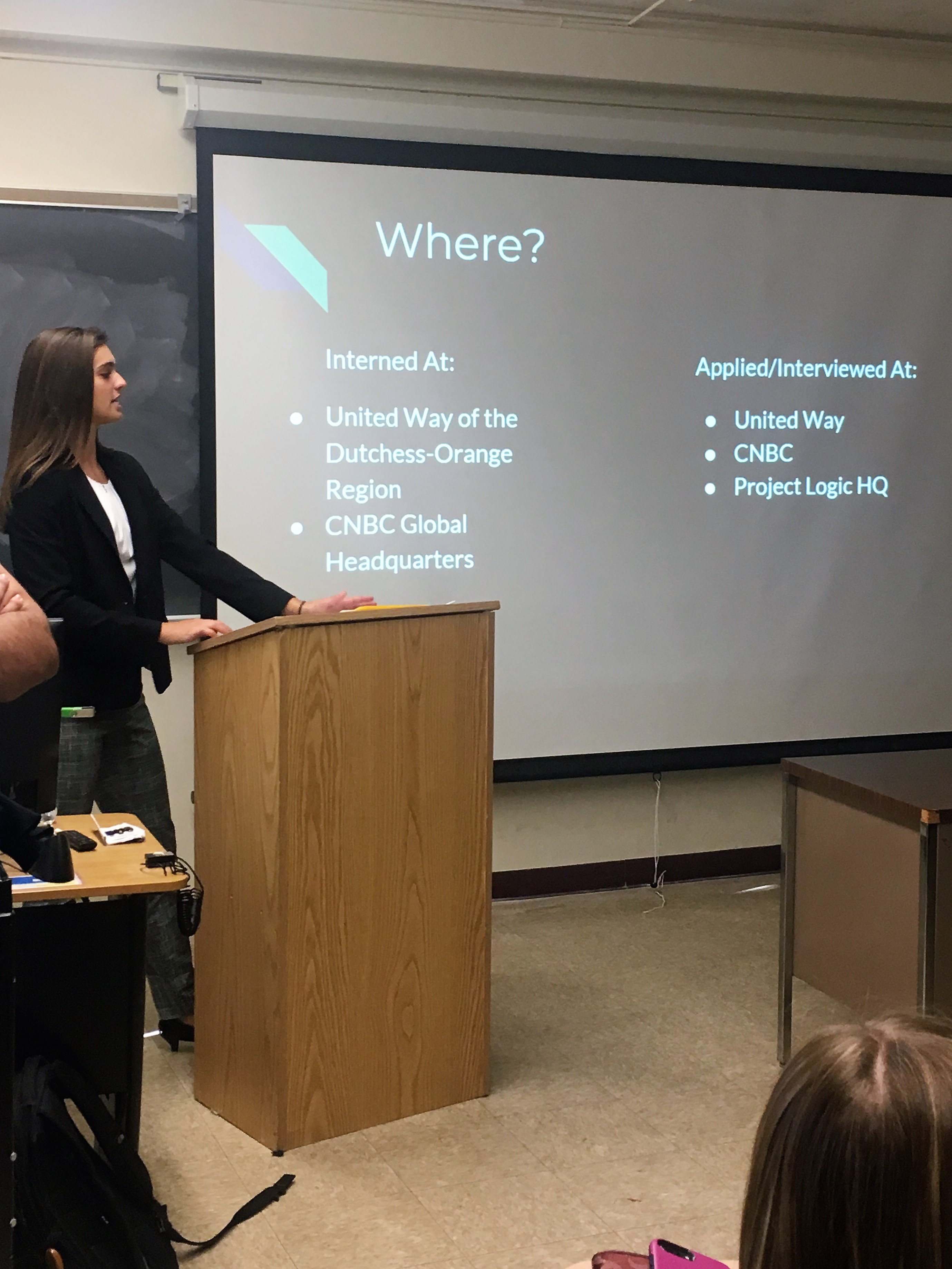 Alyssa Chelak presenting during the Study Beyond Connection reception