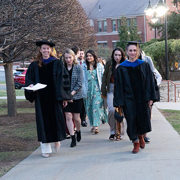 Honors Convocation student and faculty procession
