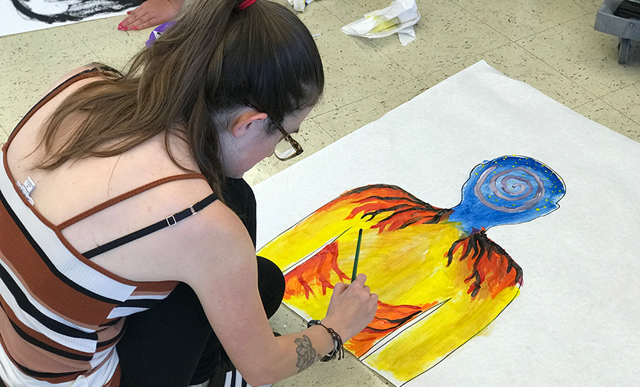 Art Therapy Student painting