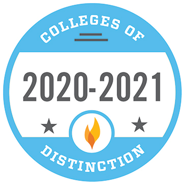 Colleges of Distinction 2020-2021 Badge