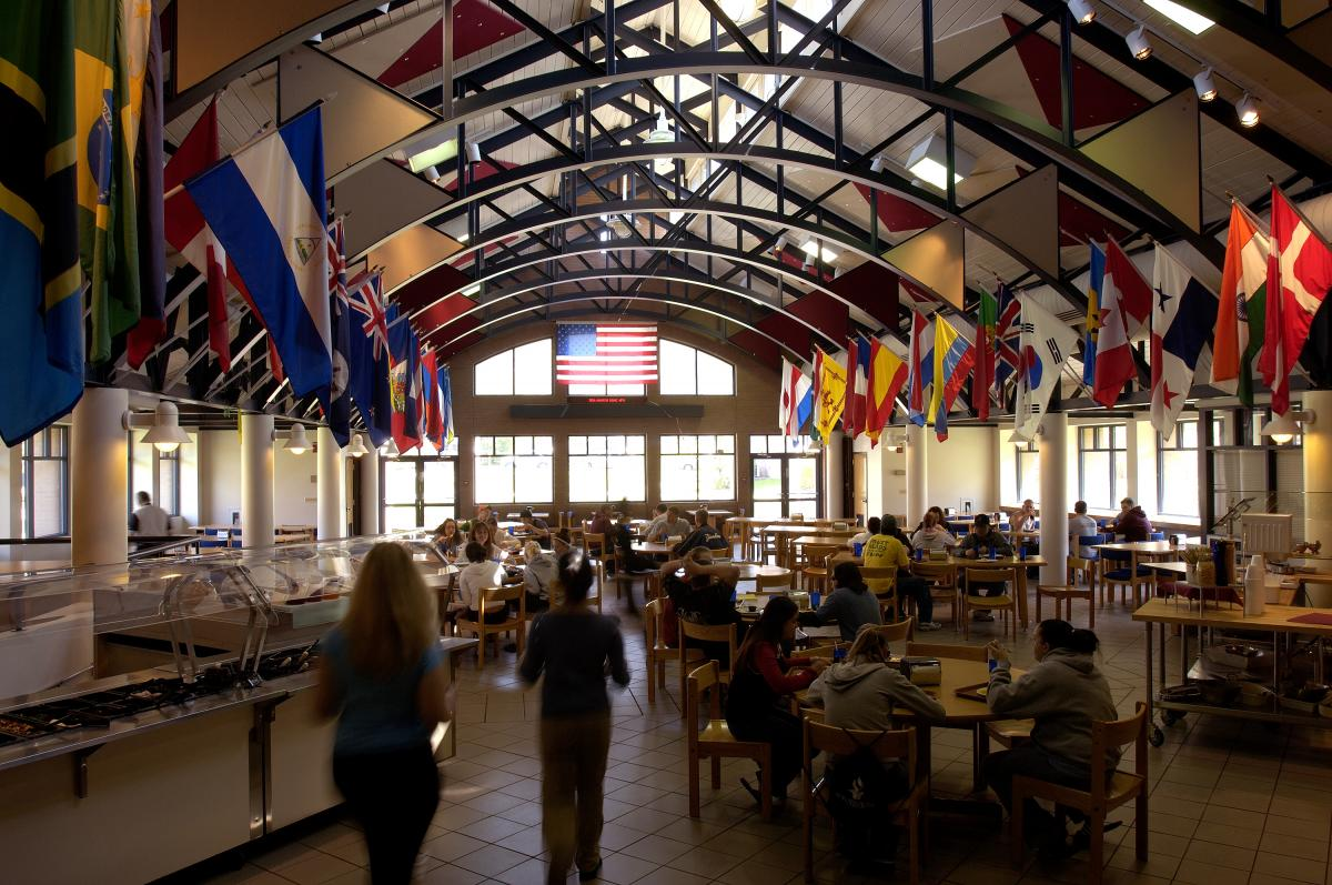 McNelis Commons Dining Hall main cafeteria on campus