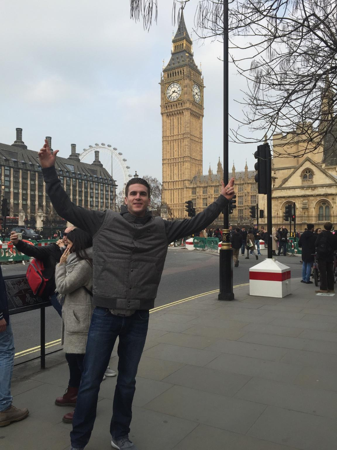 Sean Wilson in front of the Big Ben