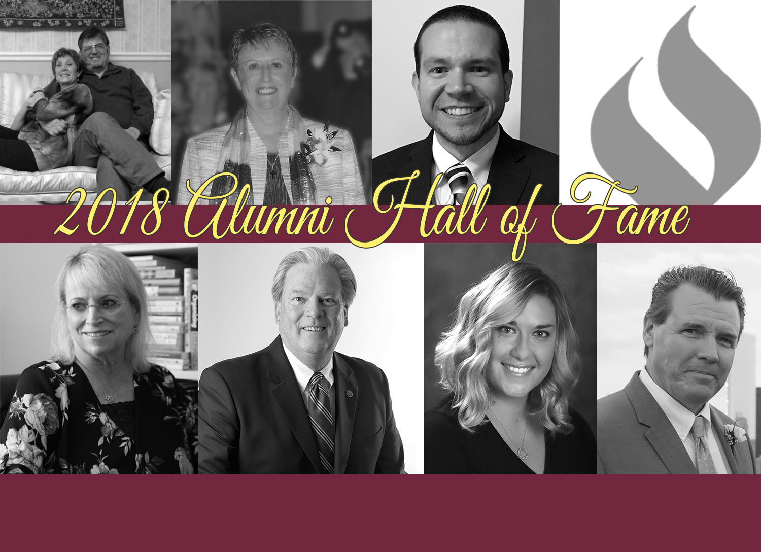 collage image of 2018 hall of fame honorees