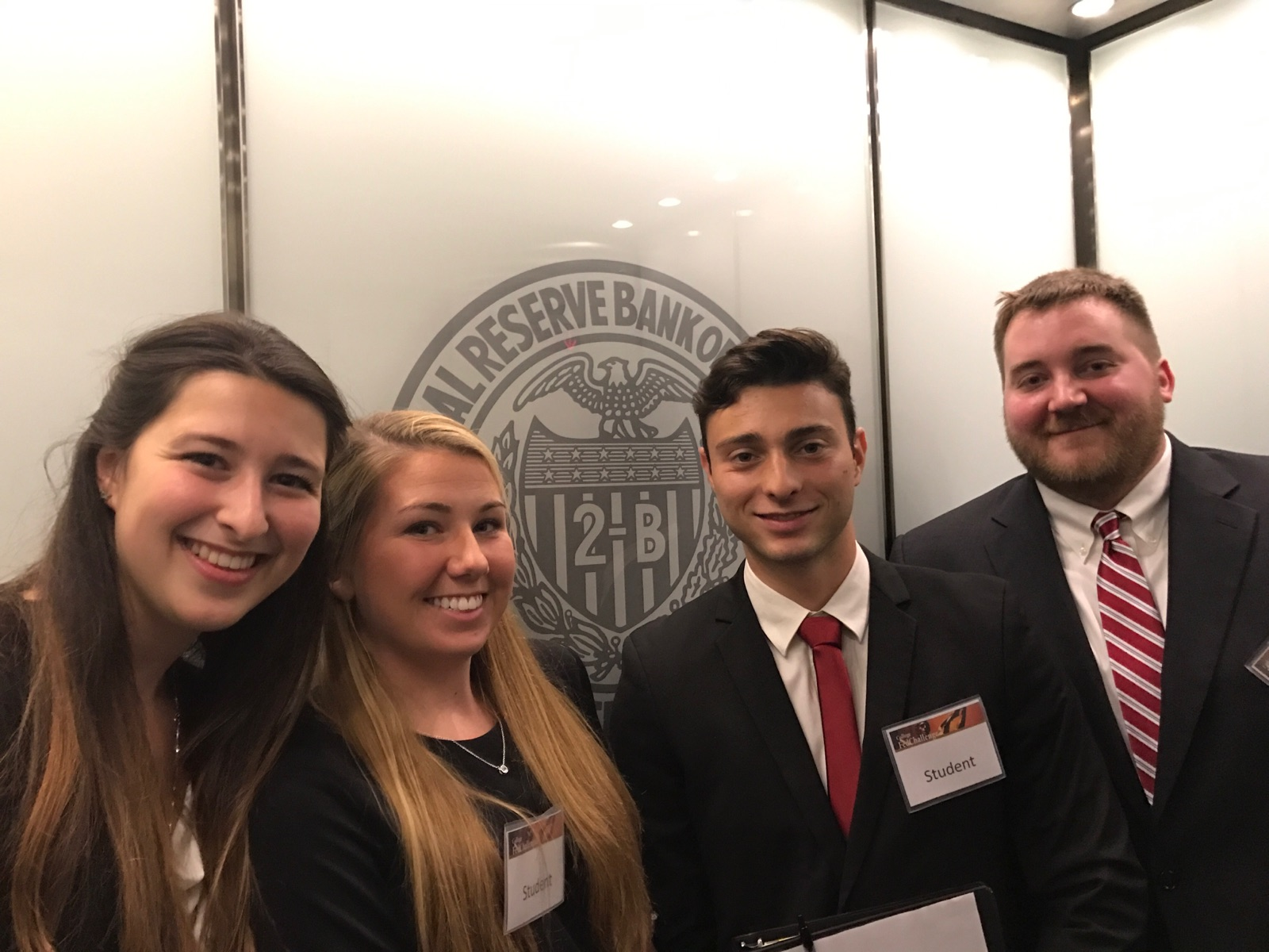 Patricia Nersten with three other students representing Stac at the FED challenge