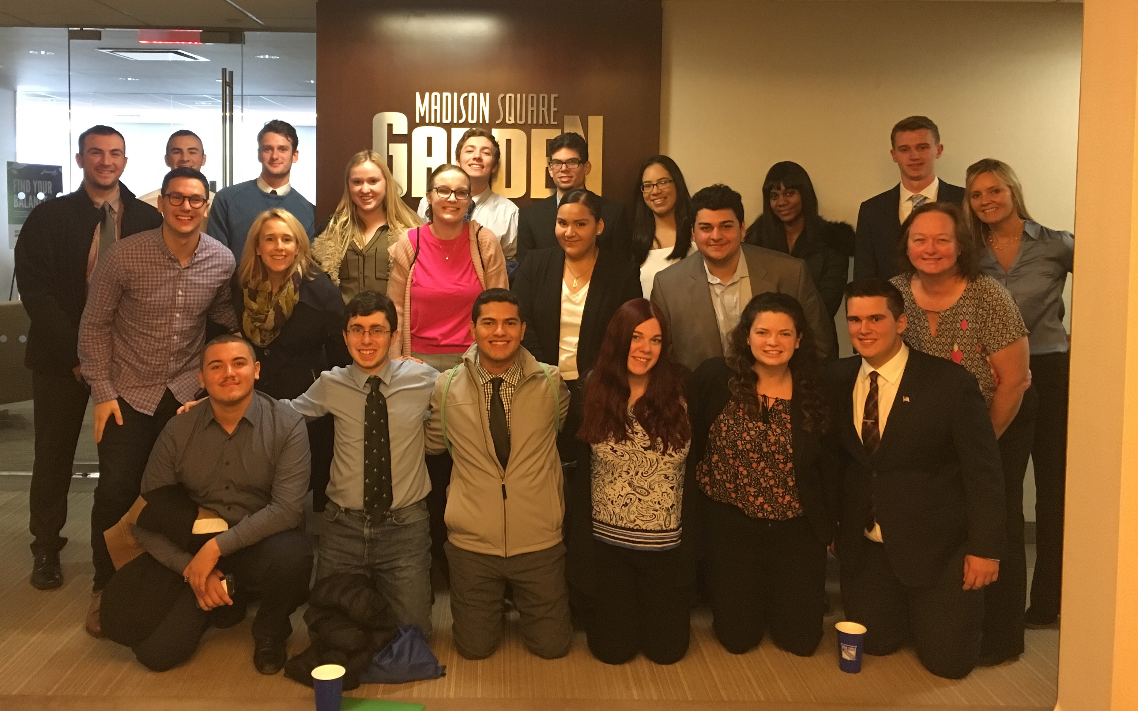Students at the corporate offices at MSG