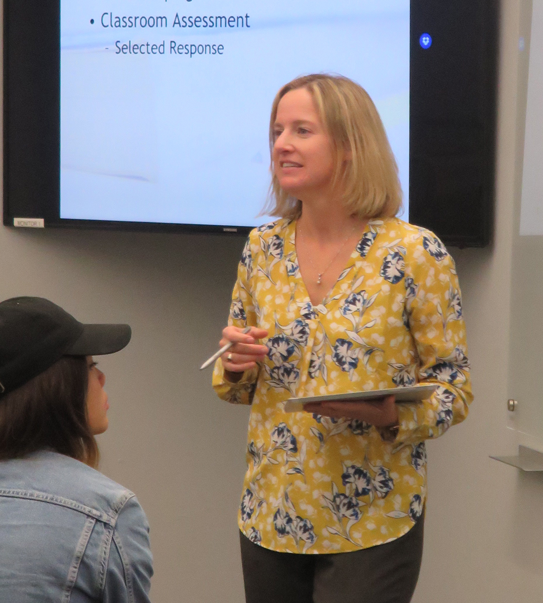 Athena McAlenney teaching in class