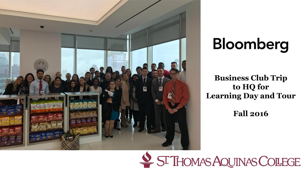 Stac students at Bloomberg headquarters in Manhattan