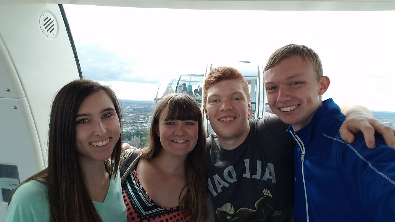 Students on the London Eye