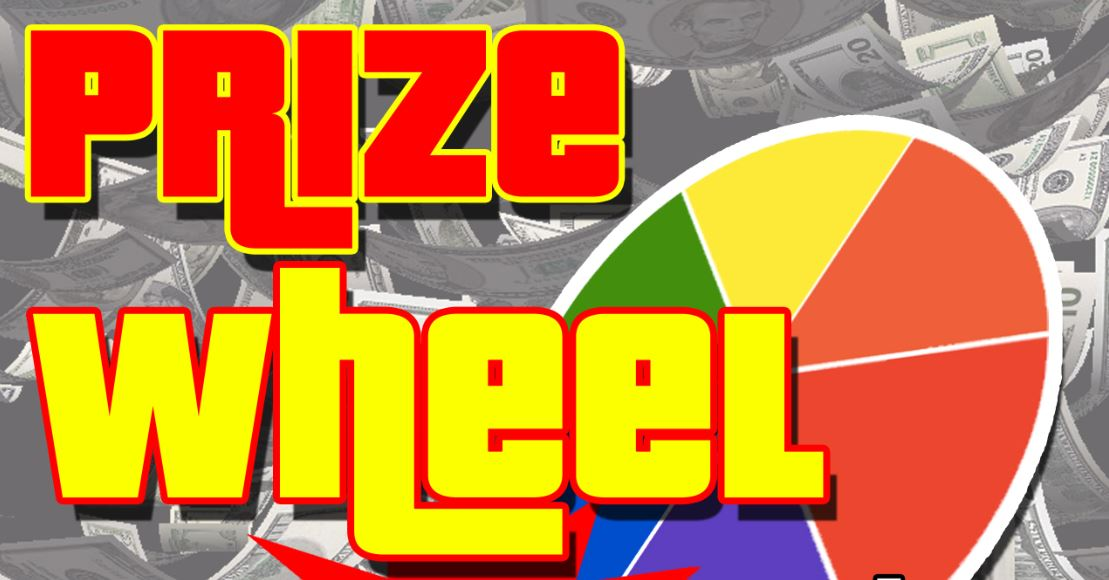 Prize Wheel Thursday September 29, 2016
