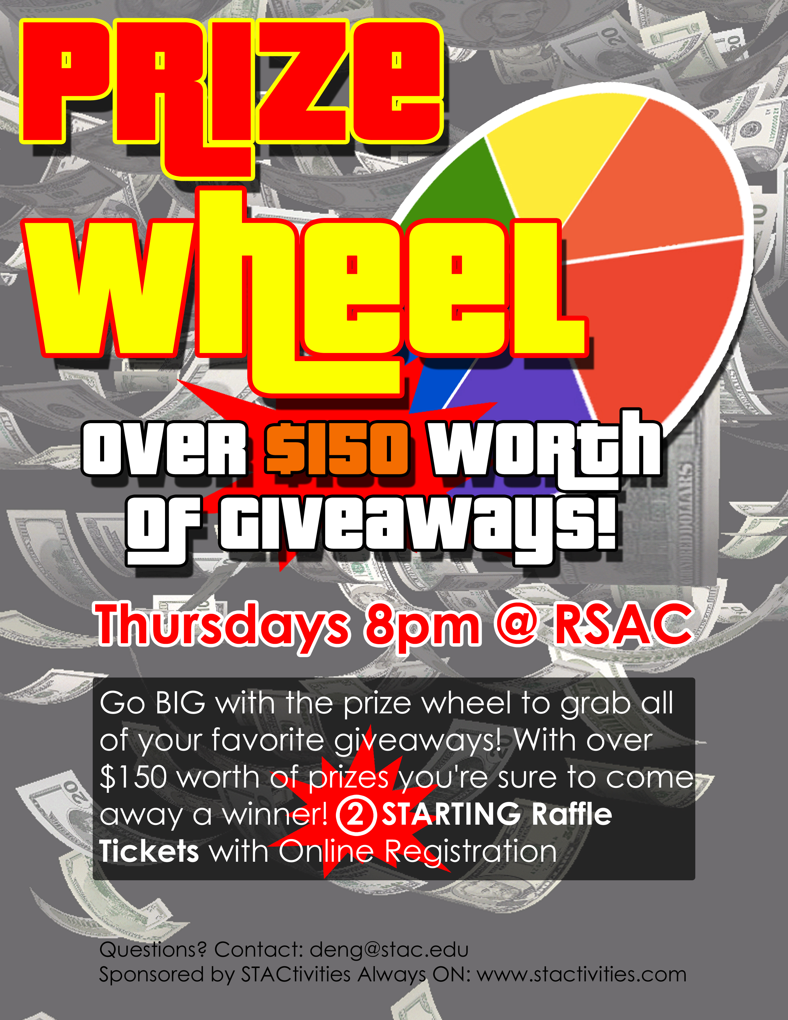 Prize Wheel Thursday September 15, 2016