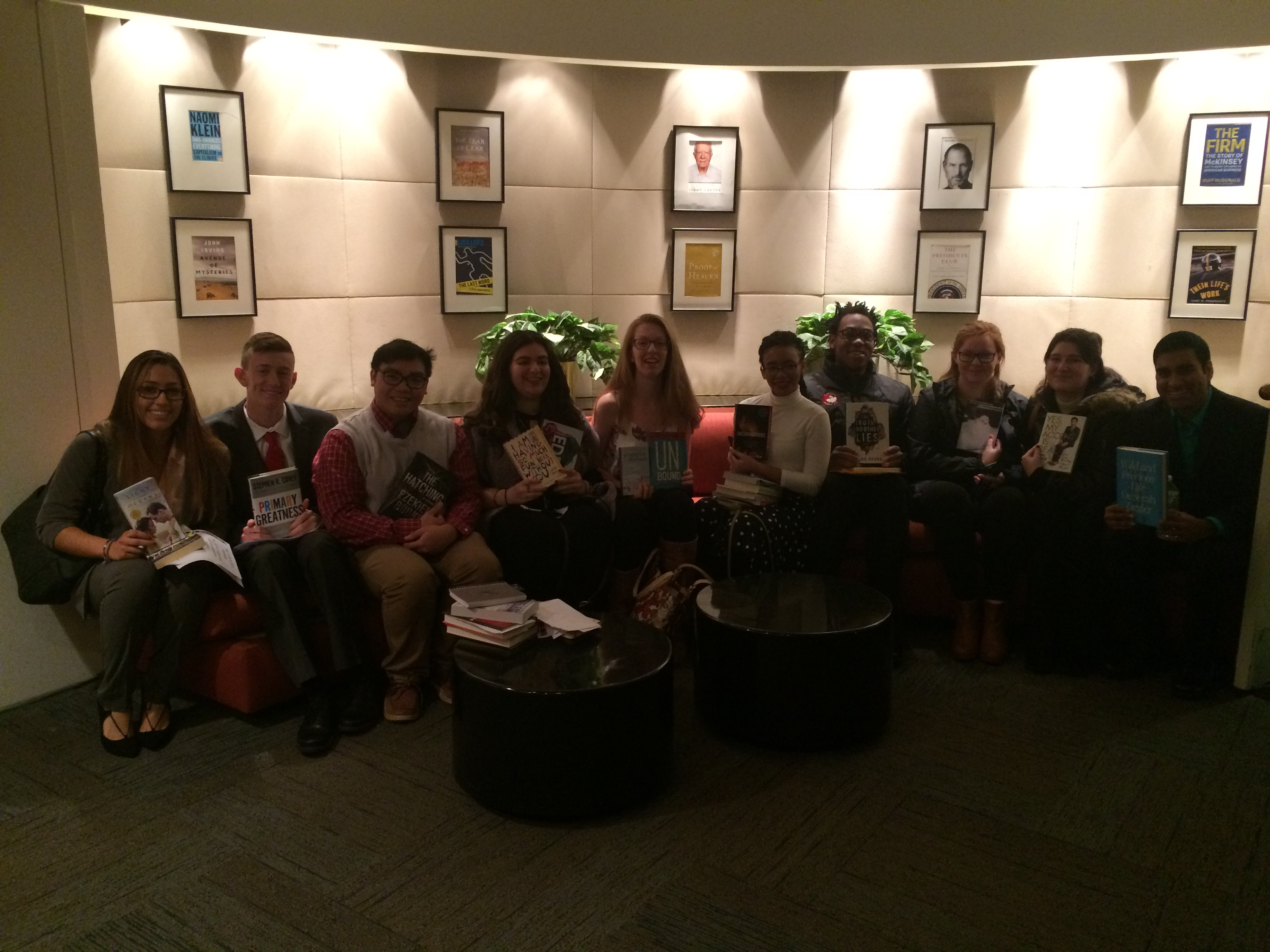 Students at Simon and Schuster Book Offices
