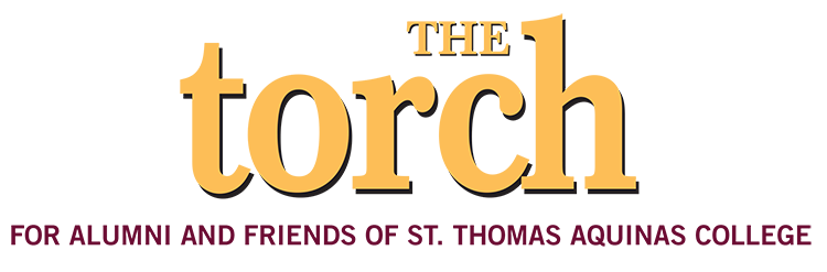 The Torch Newsletter Logo - For Alumni and Friends of St. Thomas Aquinas College