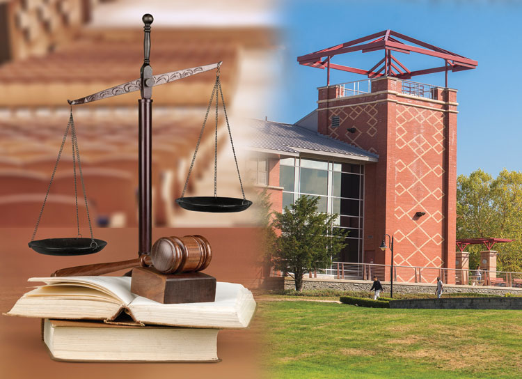 justice scale and costello hall