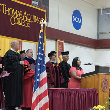 National Anthem being sung at lat year's Honors Convocation