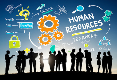 Graphic design of the tasks done by human resources management
