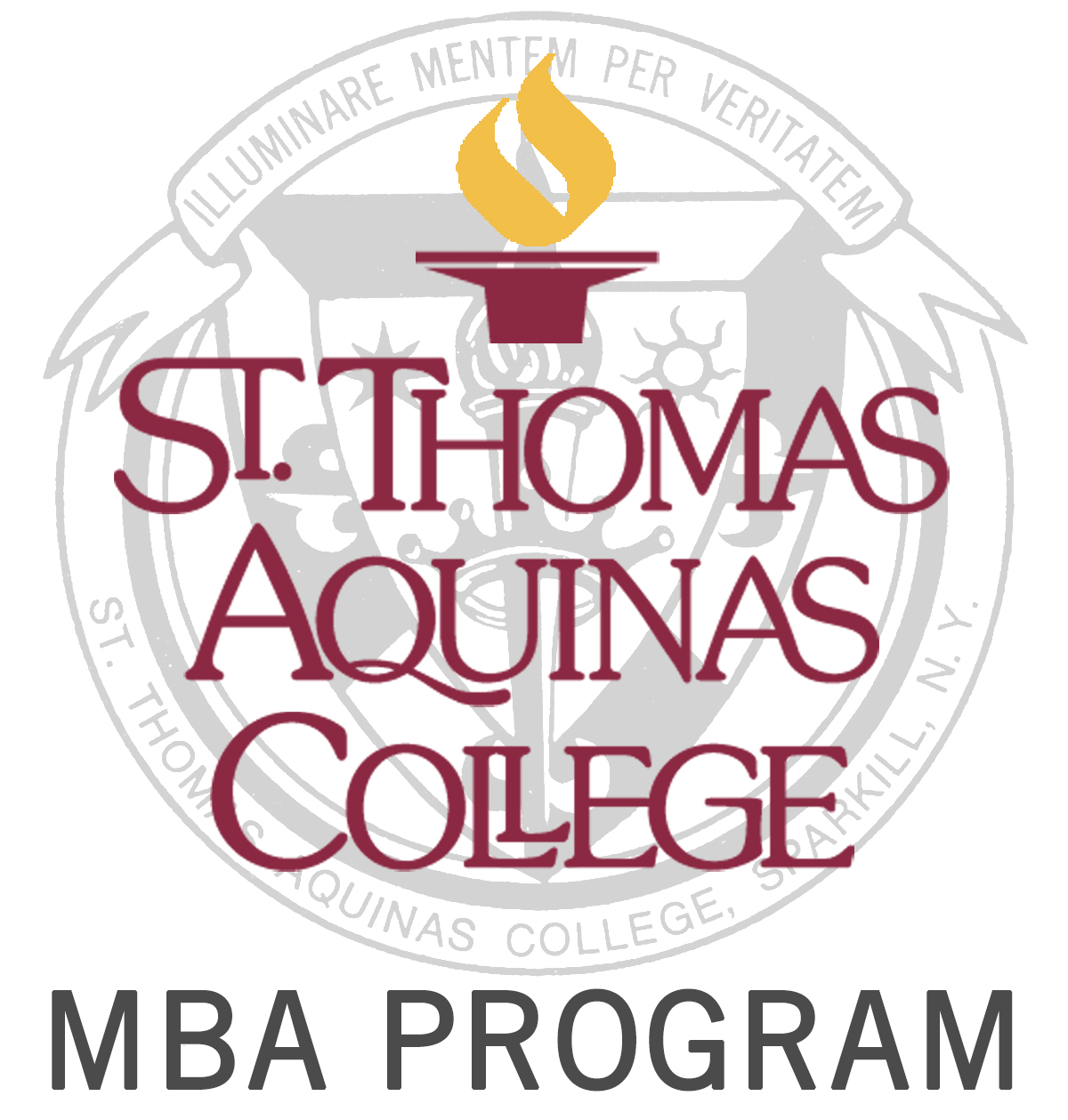 mba with college logo and seal