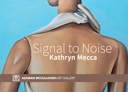 "Panphlet of the exhibition ""Signal to Noise"" by Kathryn Mecca"