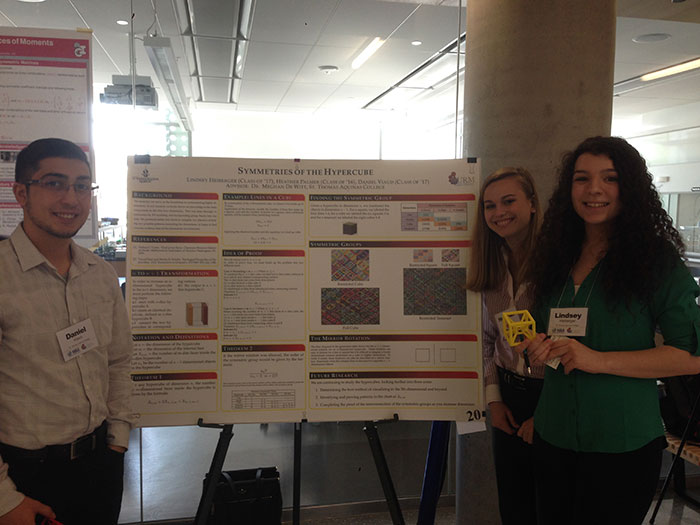 students at math research conference