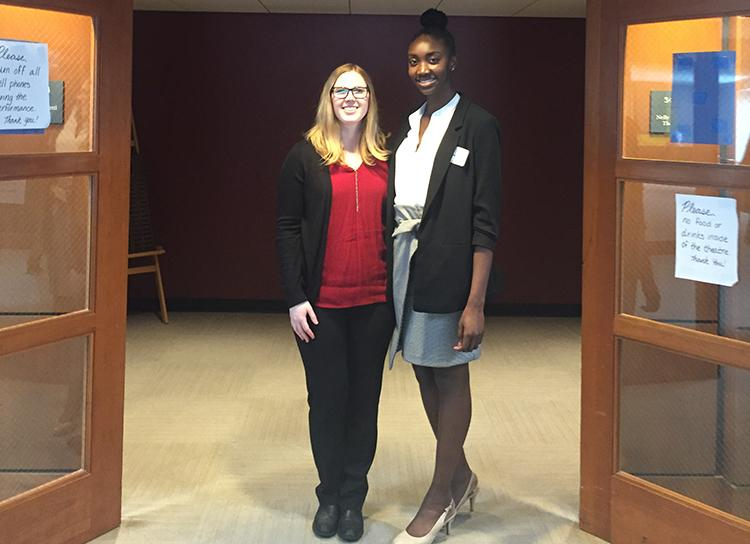 mallory rae and adiya henderson pictured at the business competition