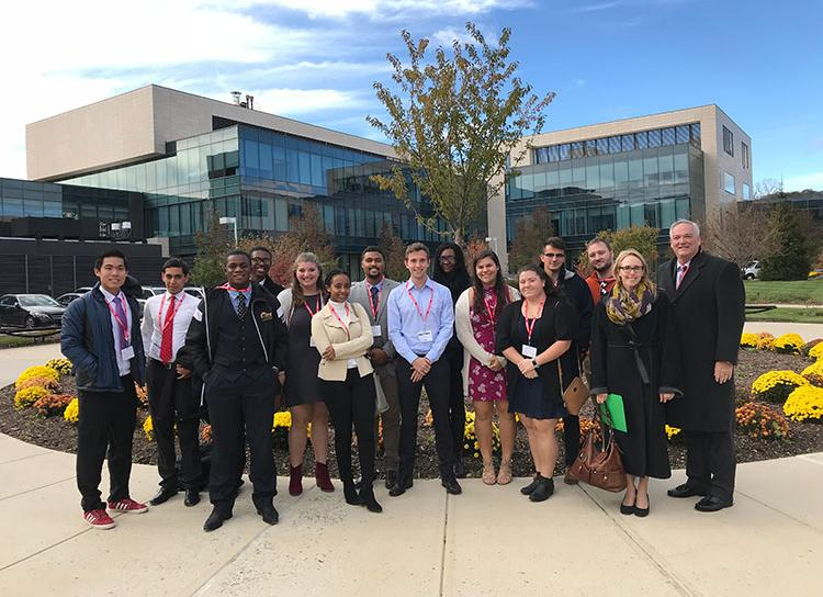 Group of Stac Students at the Regeneron Campus