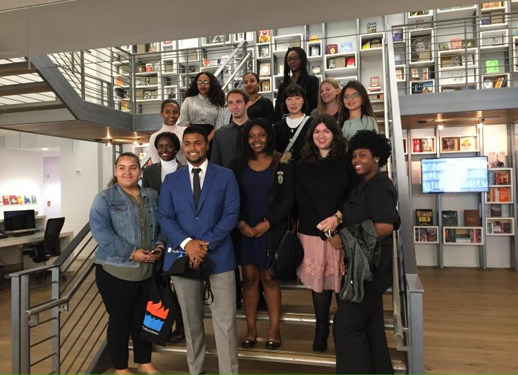 Students visited Harper Collins Publishing House in NYC