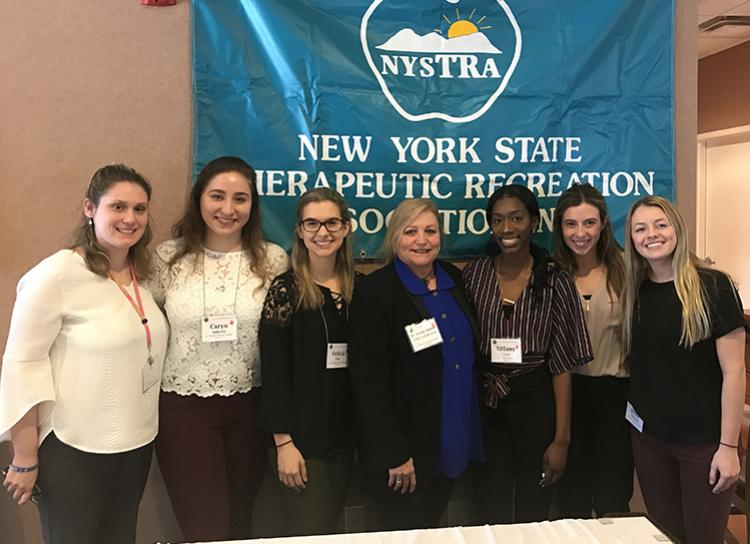 group of female students pictured at the Therapeutic Recreation Conference