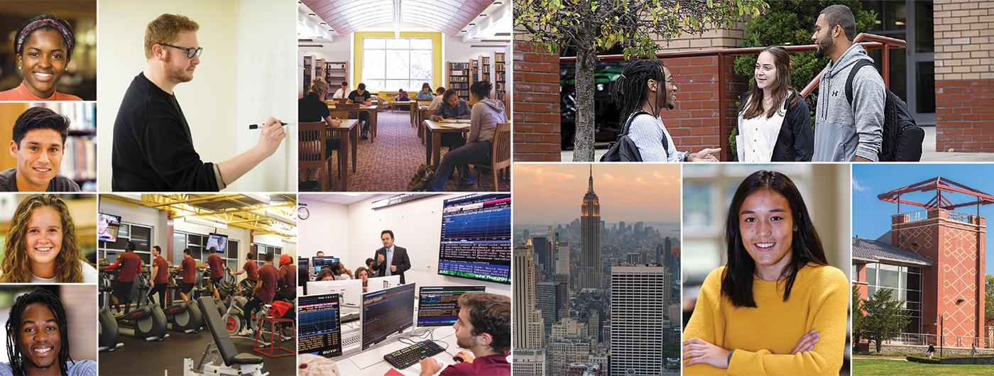 collage image of students, professors teaching, STAC campus, classrooms