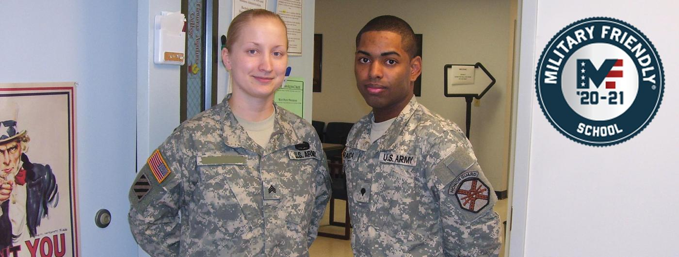 Two military cadets