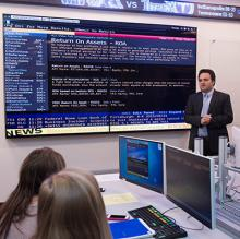 Dr. Trendafilov's Finance Class in the Bloomberg Professional Laboratory.