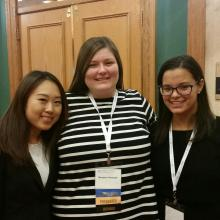 Three students at the NYSCEC Annual Conference in Buffalo