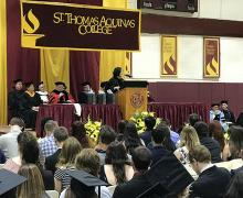 Dr. Carolyn Yuayan Woo Gives Convocation Address