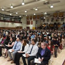 Students at the 2017 Honors Convocation.