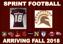 image of a spartan football jersey and logo of all teams in the league
