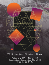Poster of the 2017 Students Show at AMAG