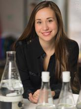 image of dr. bianca wentzell in a biology lab