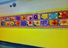Flowers Painted by Art Students
