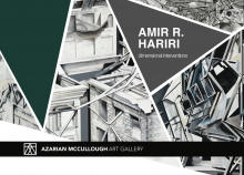 """Poster of """"Dimensional Inventions"""" by Amir R. Hariri"""