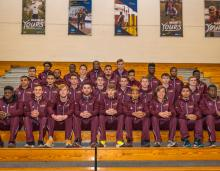Team picture of the Stac Men's track & Field Team