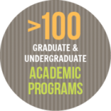 More than 100 Graduate and Undergraduate Academic Programs